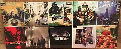 """Oasis Album Covers Print 24"""" x 10"""" Canvas print on a wooden stretcher frame"""