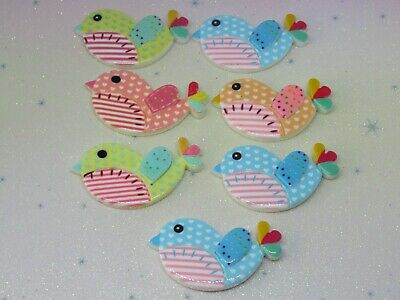 Shoe Resin FlatBack x7 Cabochon Decoden Kawaii Craft Scrapbook Embellishment Bow
