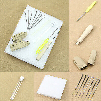Wool Felt Needle Felting Foam Starter Kit Mat + Needle + Accessories DIY Tools