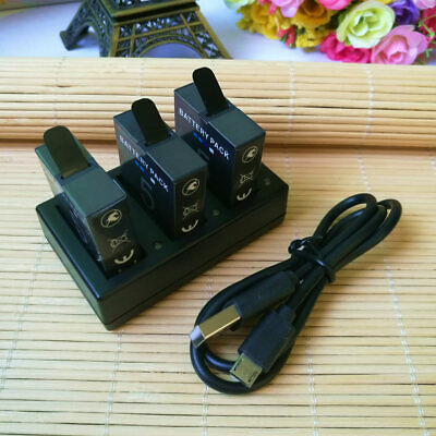 AHDBT-501 Battery / 3 Channel Charger For GoPro Hero 7 HERO 6 Black Hero 5 Black