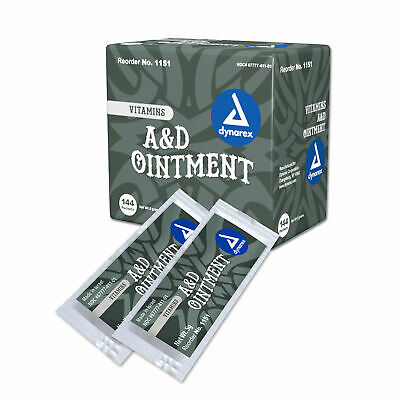 4 BOXES! Dynarex Vitamins A&D Ointment Skin Protectant 144/BX=576 5g Packets