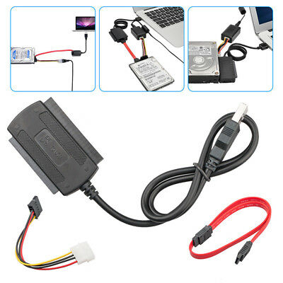 """SATA/PATA/IDE Drive to USB 2.0 Adapter Converter Cable For 2.5/3.5"""" Hard DrBLCA"""
