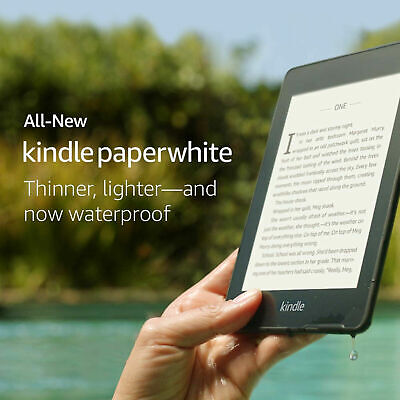 Amazon Kindle Paperwhite 10th Generation 8GB, Wi-Fi Waterproof with front light