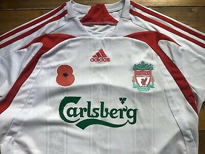 Liverpool FC 2007 Adidas Away Shirt. Poppy. Stevie G. No.8. Adult Large.