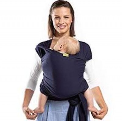 Boba Baby Wrap Carrier, Navy Blue - The Original Child and Newborn Sling, Perfec