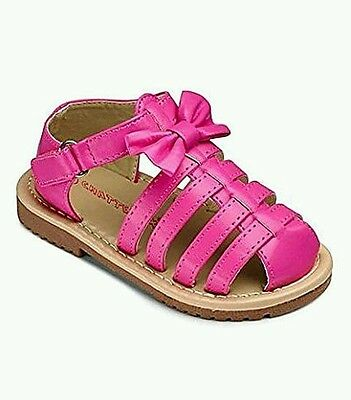 Girls Chatterbox Annalise fushia pink summer sandals shoes size 4