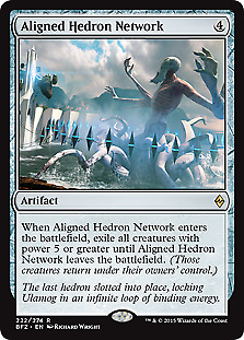 4 x HEDRON ARCHIVE NM mtg Battle for Zendikar Grey Artifact Unc