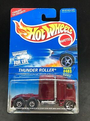 HOT WHEELS #483 Thunder Roller Semi Tractor Cab New In Package Free