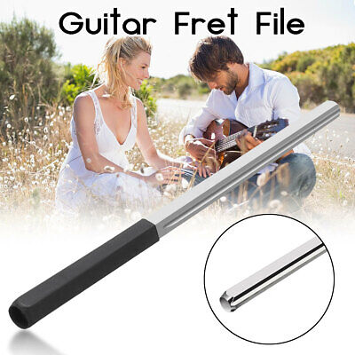 Guitar Fret Crowning Dressing File with 3 Size Edges Professional Luthier