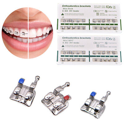 20pcs/pack Orthodontic Ultrathin Dental Metal Brackets Roth 345 Hook Oral Care