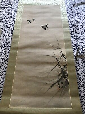 Beautiful Antique/ Vintage Japanese Scroll Hanging Wall Scroll #3