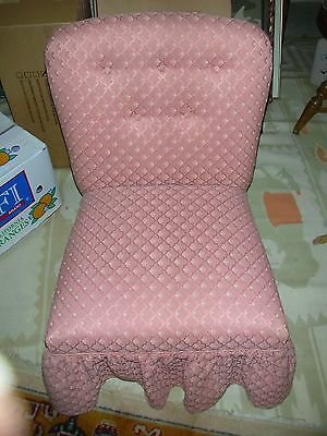 "VINTAGE PINK CHILD'S CHAIR Beautifully High Quality UPHOLSTERY    28 1/2"" tall"