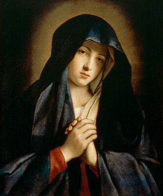 The Madonna in Sorrow Religious Hand Painted Religious Oil Painting on canvas