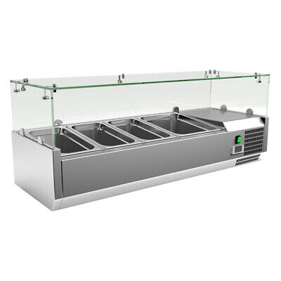 Refrigerated Counter Top Servery Prep Unit 3 x 1/3 & 1 x 1/2