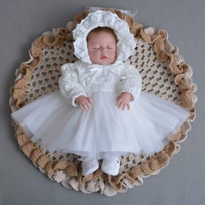 cbb88a021bc PINK CHRISTENING DRESS Baby Girl Lace Vintage Infant Baptism Gowns ...