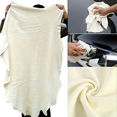 Car Cleaning Washing Chamois Leather Cloth Extra Large Absorbent Drying Towel