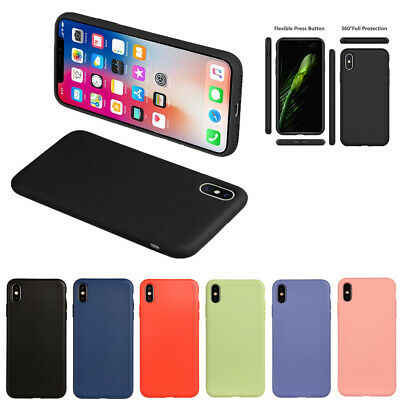 Custodia Apple iPhone 6 7 8 plus X XR XS Max Cover Ultra Sottile in Silicone GEL