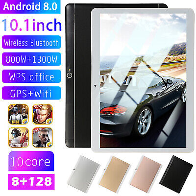 10.1 inch Tablet Android8.0 Bluetooth PC 8+128G ROM 2 SIM with GPS Double Camera