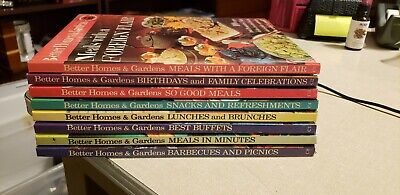 Complete 8 Volume Set Better Homes & Gardens Creative Cooking Library Cookbooks