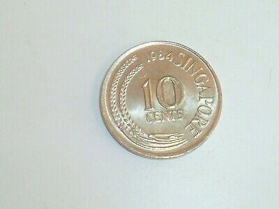 Vintage ! 1 pc. of Singapore Brunei Sea Horse 10 cents used coin 1967-84 (SC-98)