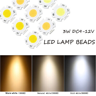 3W 5W 7W 10W COB Super Bright LED Chip Bead DC 9-12V Neutral White DIY Wholesale