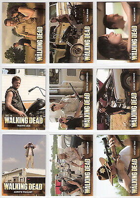 2012 Walking Dead Season 2 - Complete 80 Card Base Set + Empty Box and Wrappers