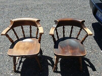 2 ETHAN ALLEN Old Tavern Pine Chairs Dining Room Table Side Wood USA