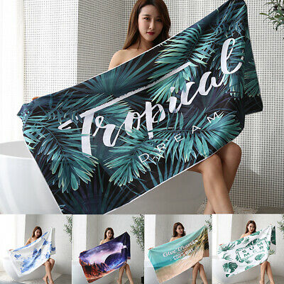 Extra Large Microfibre Outdoor Travel Beach Towel Swimming Quick Dry Sand Free