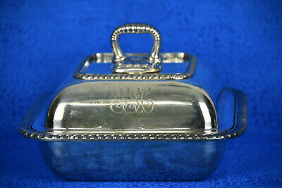"Gorham Co 7"" Silver Soldered Square Vegetable Dish with Lid (DC2007)"