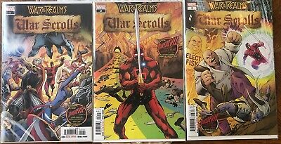 War of the Realms: War Scrolls #1-3 Complete Set Lot Run Series NM Marvel 2019