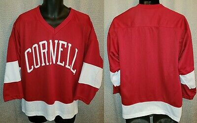 new product eb6df a6b7d CORNELL BIG RED Carnelian & White Polyester Mesh Hockey Jersey NWOT - Youth  M