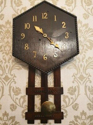 An Arts and Crafts Style Drop Dial Wall Clock