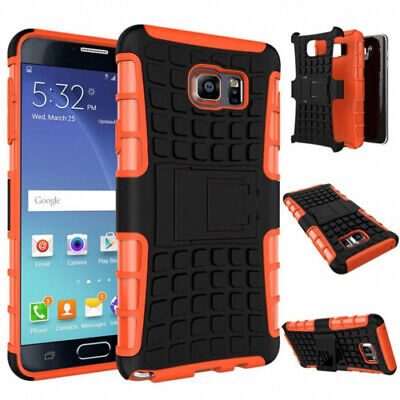 (Orange) - Samsung Galaxy Note 5 Case, Perman Shockproof Armour Stand Case
