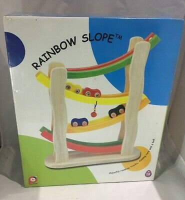 Rainbow Slope: Wooden Car Gravity Slope