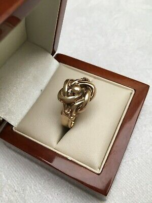 Fully Hallmarked substantial solid 9ct Gold Gentleman's Knot Ring - Men's Ring