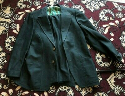 Vintage 60's Green Mens Suite Large - 42 with tails Pants 36 W x 30 L groovy