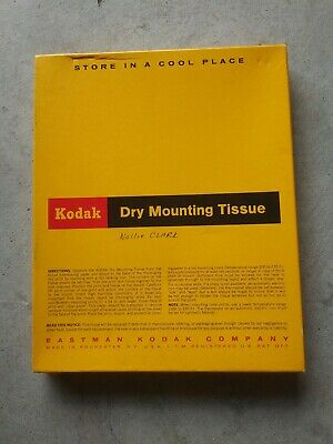 Vintage Kodak Dry Mounting Tissue opened Almost full 150 sheets 8x10 60's ??