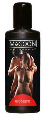 Magoon Erdbeere Massage Öl Erotik Massageöl Strawberry Aroma Duft Sex Oil 100 ml