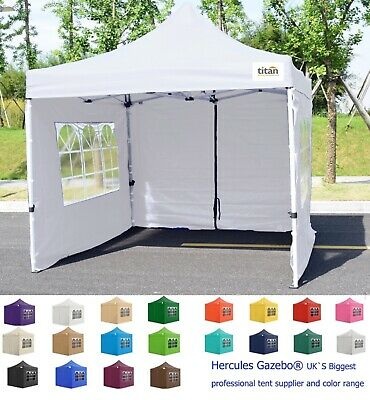 NEW TITAN® HEX 40 HEAVY DUTY POP UP GAZEBO STRONGEST FRAME ON EBAY WHITE 3m x 3m