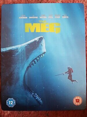 The Meg (Blu-ray) 3D/2D Steelbook, Jason Statham, OOP