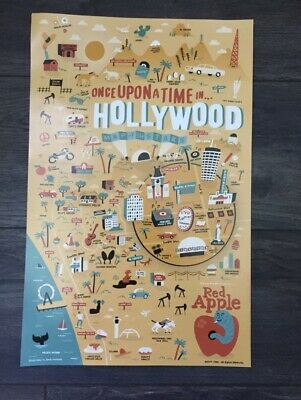 """'Once Upon A Time in Hollywood' Quentin Tarantino Rare Arclight Poster 11""""x17"""""""