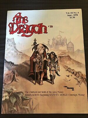 THE DRAGON MAGAZINE # 4 Dungeons & Dragons Ad&D Tsr - 1