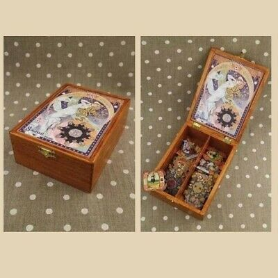 "SAJOU Wooden storage box for thread cards ""Etoilee"""