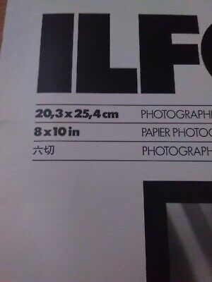 """Ilford 8x10"""" MGIV RC Deluxe Photographic Paper 25 sheets NEW Cat# 177 0306."""