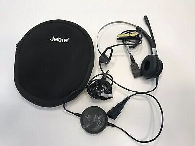 Jabra BIZ 2420 2403-820-105 Mono Noise Canceling Headset with Link 220A ~ EUC!