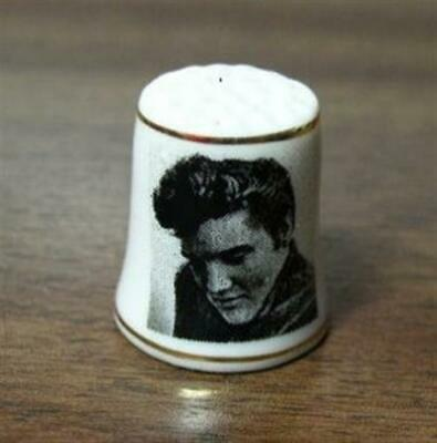 """Elvis Presley The king thimble 1"""" tall New with Double Gold Trims"""