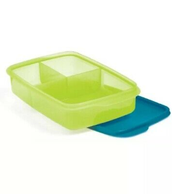 Tupperware Large Divided Lunch It Container Dish for On the Go NEW Back 2 School