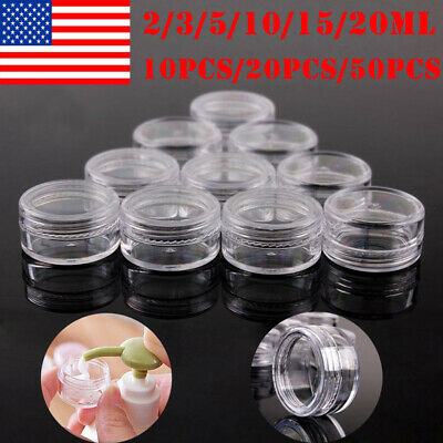 10-50x 2-20 g Sample Cosmetic Makeup Jars Pots Face Cream Lip Balm Container P P