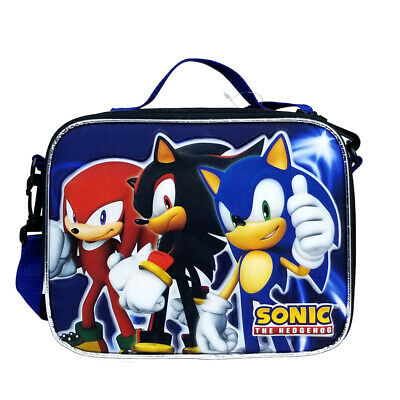 SONIC THE HEDGEHOG LUNCH BOX SONIC BOOM TAILS KNUCKLES SCHOOL TOTE BAG NWT