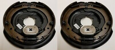 "2-Pk 12"" x 2"" Right Hand Electric Trailer Brake Self Adjusting Backing Plates"